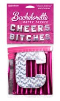 BACHELORETTE CHEERS BITCHES PARTY BANNER