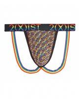 2Xist Pride Jock Strap Cursive Rainbow MD