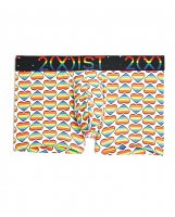 2Xist Pride No Show Trunk Heart Rainbow LG