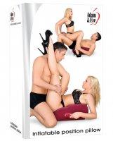Adam & Eve Inflatable Position Pillow - Burgundy