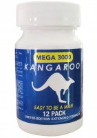 KANGAROO FOR HIM MEGA 3000 BLUE BOTTLE 12 PC (NET)
