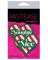 Pastease Naughty/Nice Candy Canes Heart - Multicolor O/S