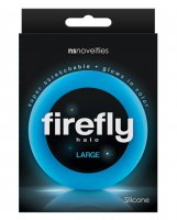 Firefly Halo Large Cockring - Blue