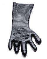 Master Series Extra Long Textured Fisting Glove - Black