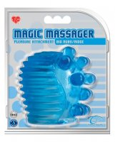 Magic Massager Pleasure Attachment Big Nubs/Ridge - Blue