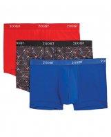 2XIST 3 pk Micro Speed Dri No Show Trunk Red, Black, & Blue MD