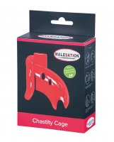 MALESATION Chastity Cage - Red