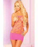 Pink Lipstick Web of Seduction Tube Dress Pink O/S