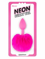 (D) NEON BUNNY TAIL PINK