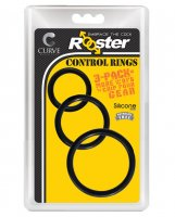Curve Novelties Rooster Set of 3 Control Rings - Black