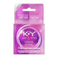 K-Y Intense Condom 3ct