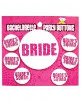 Bachelorette Party Button - Bride/Bride's Squad