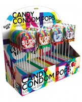 Candy Condom Pops Candy Shape Lollipops - Display of 24