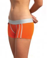 Jack Adams Women's LUX Modal Boy Short Orange MD