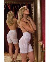Rago Shapewear High Waist Long Leg Shaper White 7X