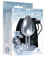 The 9's The Silver Starter Bejeweled Heart Stainless Steel Plug - Diamond
