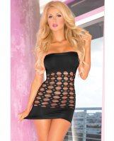 Pink Lipstick Middle Seamless Dress Black O/S