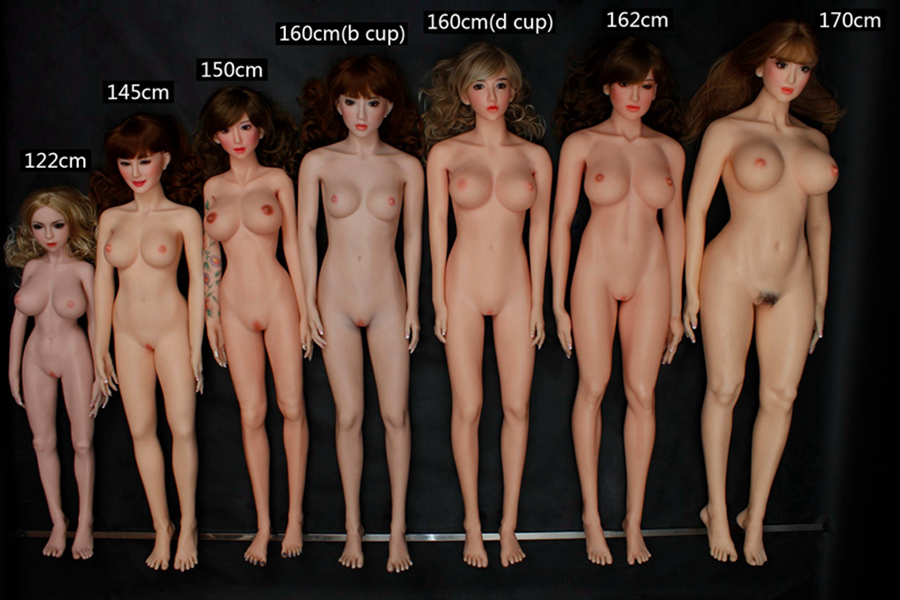 Realistic Full Size silicone Doll Sizes