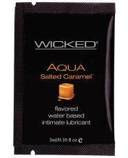 Wicked Sensual Care Aqua Waterbased Lubricant - .1 oz Salted Caramel