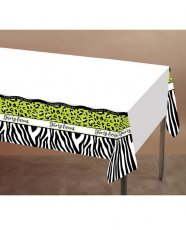 "Forty-licious Plastic Tablecover w/Border Print - 54"" x 108"""