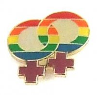 LAPEL PIN RAINBOW DOUBLE FEMALE