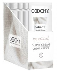 COOCHY SHAVE CREAM AU NATURAL FOIL 15ML 24PC DISPLAY
