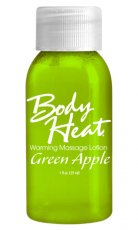 BODY HEAT WARMING MASSAGE LOTION GREEN APPLE 1 OZ