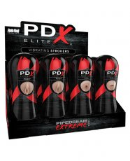 PDX Elite Vibrating Strokers Display - Display of 12