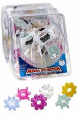 MEGA STRETCH SILICONE PLEASURE RING(72/BOWL) ASST
