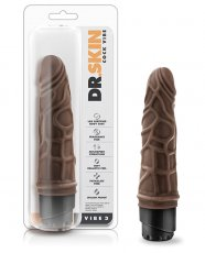 "Blush Dr. Skin 7.25"" Cock Vibe 3 - Chocolate"