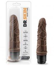 "Blush Dr. Skin 7.25"" Cock Vibe 3 - Chocolate"