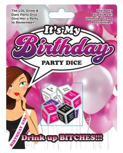 It's My Birthday Party Dice