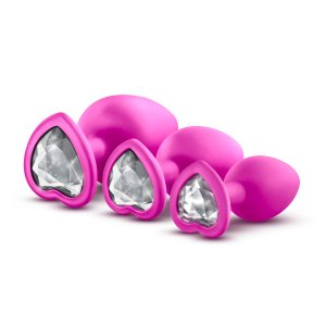 LUXE BLING PLUGS TRAINING KIT PINK W/WHITE GEMS