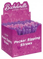 (WD) BACHELORETTE DICKY SIPPIN STRAWS 144 PCS