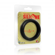 WIDE SILICONE DONUT BLACK 2.0IN