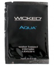 Wicked Sensual Care Aqua Waterbased Lubricant - .1 oz Fragrance Free