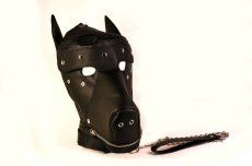 BASIC PUPPY PLAY KIT BLACK MASK TAIL MITTS CARRY PACK