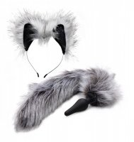 TAILZ GREY WOLF TAIL & EARS SET