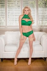 KEYHOLE BRA & PANTY GREEN MEDIUM