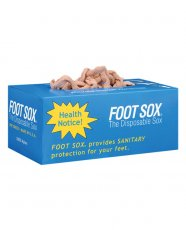Disposable Foot Sox - Tan Box of 144