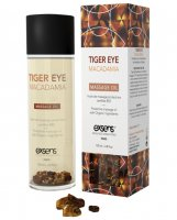 EXSENS of Paris Organic Massage Oil w/Stones - Tiger Eye Macadamia