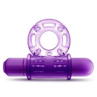 PLAY WITH ME COUPLES PLAY VIBRATING COCKRING PURPLE