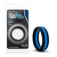 PERFORMANCE SILICONE GO PRO COCK RING BLACK/BLUE/BLACK