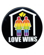 "3"" Button Female - Love Wins"