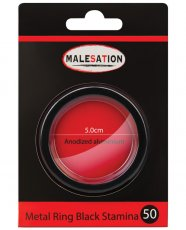 Malesation Nickel Free Metal Ring Black Stamina - 50 mm