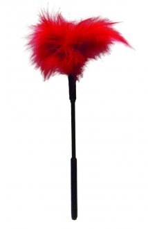 SEX & MISCHIEF FEATHER TICKLER 7IN RED