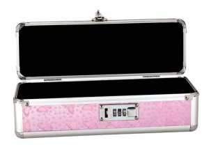 LOCKABLE VIBRATOR CASE PINK SMALL(out Sept)