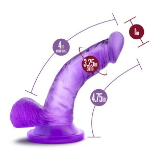 NATURALLY YOURS 4 MINI COCK PURPLE ""