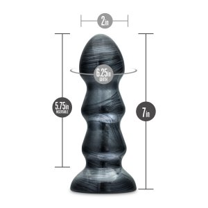 JET BLACK JACK CARBON METALLIC BLACK ANAL PLUG
