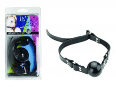 (WD) 1 1/2IN BLACK BALL GAG W/BUCKLE